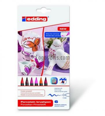 Edding Porselen Kalemi 6 lı Set Sıcak Renkler E-4200