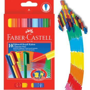 Faber Castell Eğlenceli Keçeli Kalem 10 Renk