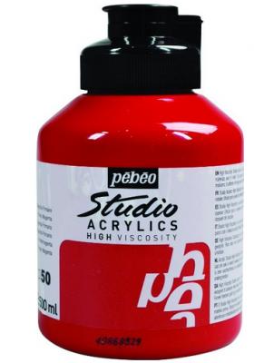 Pebeo Acrylic Studio 500 Ml. Kavanoz Primary Magenta 50 (Kırmızı)