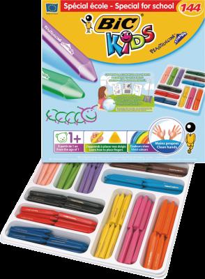 Bic Elleri Kirletmeyen Üçgen Pastel Sınıf Paketi 144 Lü Kutu